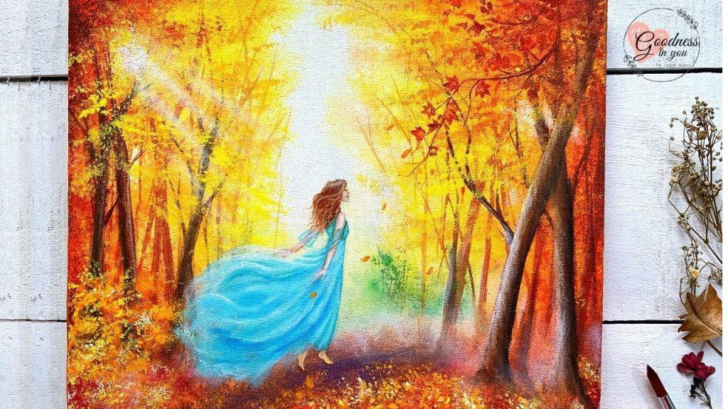 lukisan akrilik